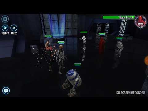 Star Wars Galaxy of Heroes - Omega Battles Imperial Fleet all Tiers