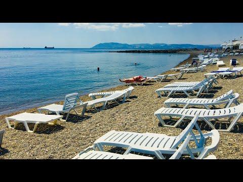 Пляж пансионата Кабардинка. Июль-2019г.