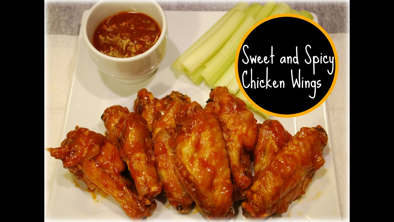 Sweet and Spicy Chicken Wings Recipe - YouTube