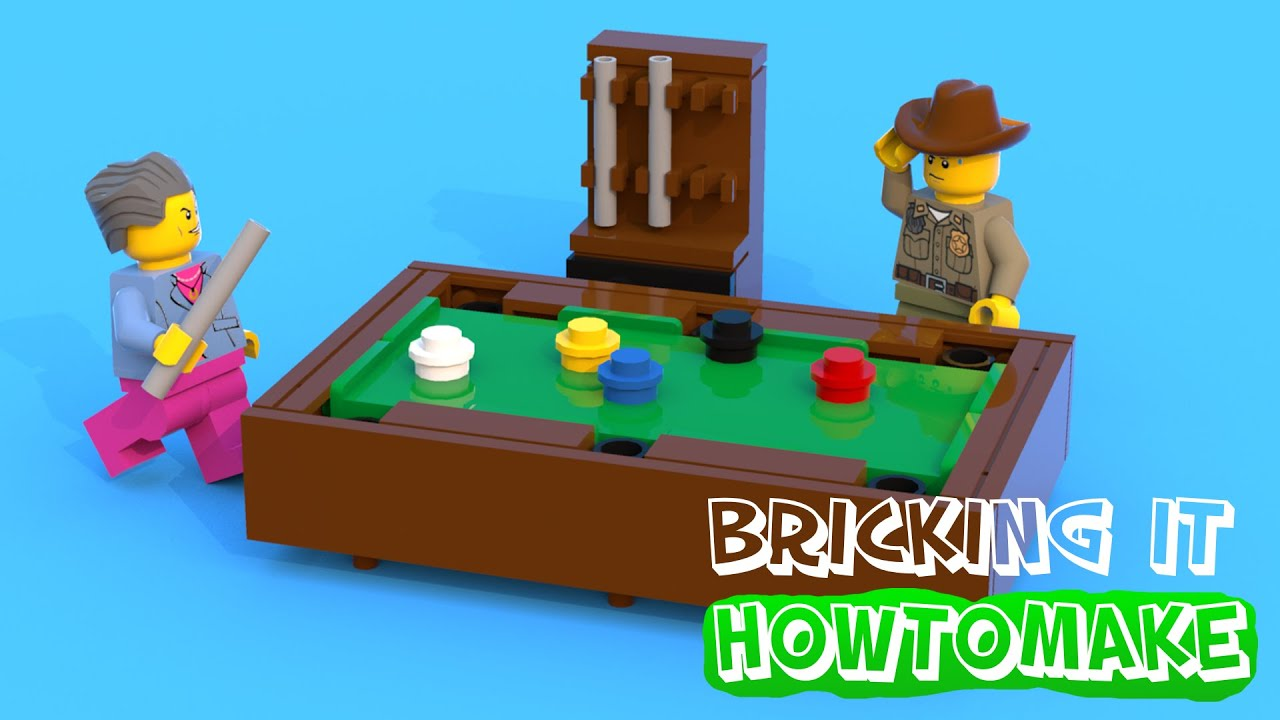 How To Make A LEGO Pool Table (MOC, Basic)   YouTube