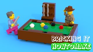 How To Make A LEGO Pool Table (MOC, Basic)
