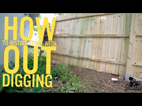 How to install wood panel fence with out digging !!!!!