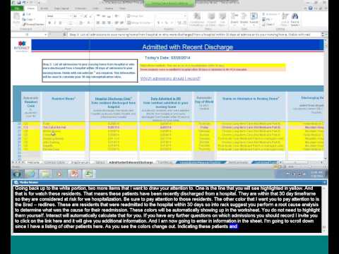 INTERACT Tracking Tool: Admitted with Recent Discharge Worksheet