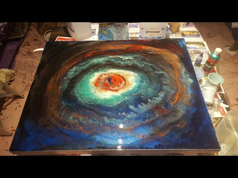 Making of AVIAN EYE Resin art on canvas