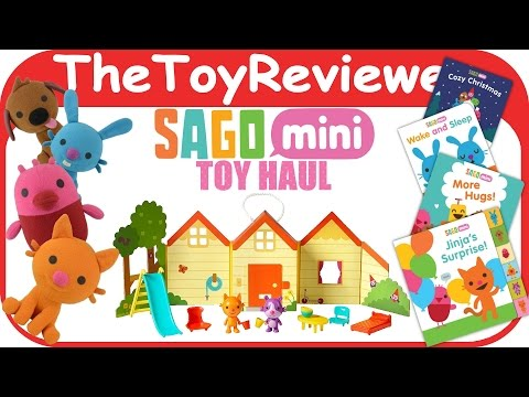 Sago Mini App Toy Haul With Books, Plushies, And Jinja's House Unboxing Toy Review By TheToyReviewer