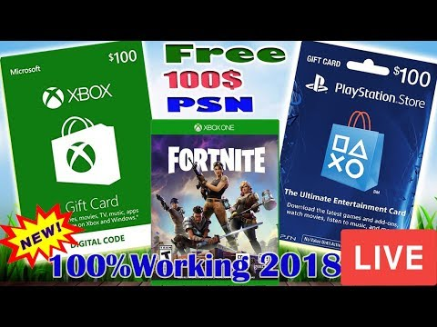 Fortnite Free Gift Card Codes Giveaway With Subscribers –Roblox, Itunes, Xbox, Live Psn Codes