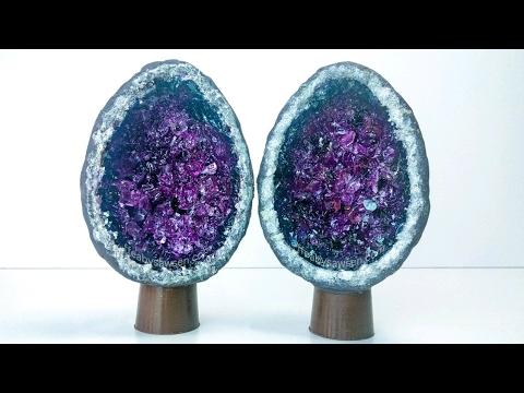 Geode Chocolate Easter egg - Easter DIY - geode tutorial