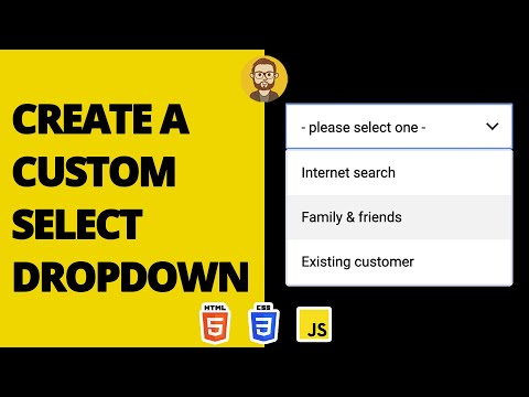 How To Style Select Tags, Create Custom Dropdown | HTML CSS Javascript