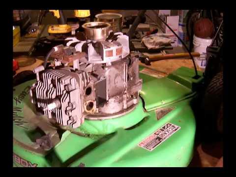 tecumseh lvea tear   rebuild engine brake cable valve cover  flywheel