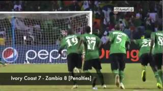 Zambia Road to Africa Cup 2012 Glory - All the Goals