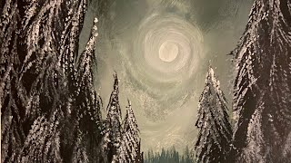Alaskan Winter Dreaming - Acrylic Painting