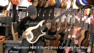 hagstrom hb8 8 string bass guitar at fret music