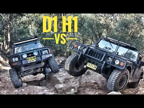 Land Rover vs Hummer  D1 vs H1 @ The Nepean Trail