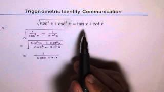 Trigonometric Identity Square Root 69
