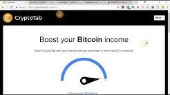 Crypto Tab BTC Mining With Google Chrome Extension