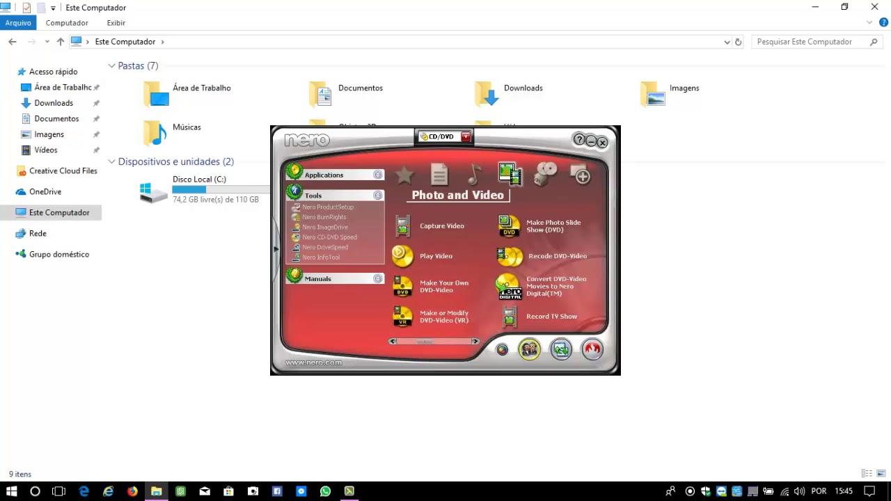 nero compativel com windows 7 com serial