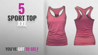 Top 10 Sport Top Xxl [2018]: women Sports Gym Yoga Bra vest slip camisole tank top Spaghetti pack