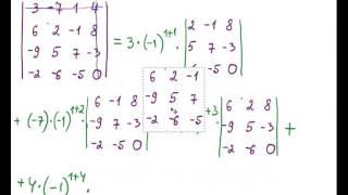 Вычислить определитель четвертого порядка