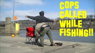 Cops Called while Fishing... SEARCHED and CITATION!!