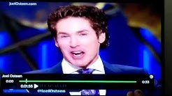 "Joel Olsteen ""I like to start with something funny"""