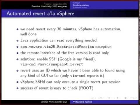 András Veres-Szentkirályi - Virtualized hackers (BSW 2010)