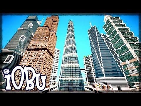 SHANGHAI, PETRONAS & LA BANK TOWER! Skyscraper City - Ep 9 - Minecraft Timelapse w Download