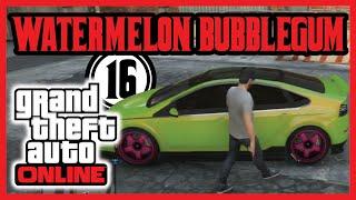 WATERMELON BUBBLEGUM   Grand Theft Auto Online w/ Vivid_P   Ep16