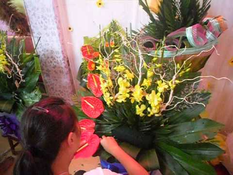 dạy cắm hoa lãng giỏ