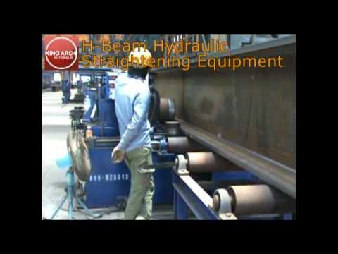 H-Beam Hydraulic Straightening Equipment.flv