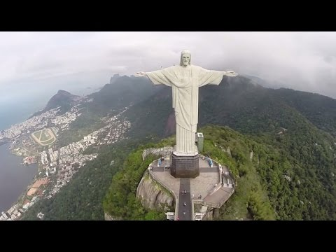 WOW! Drone Cam at Christ The Redeemer w/ Peter Capaldi & Jenna Coleman - Doctor Who World Tour