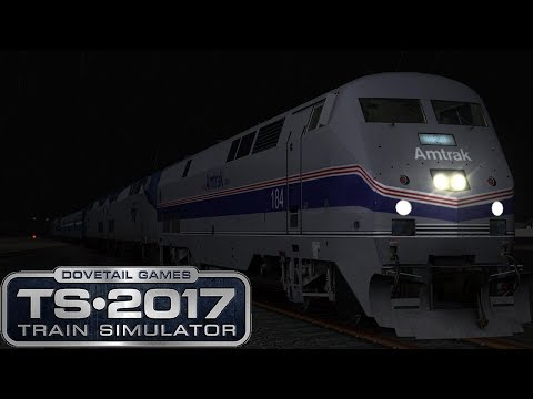 Train Sim 2017: Miami To West Palm Beach -  Midnight Amtrak Hurricane Evacuation Train