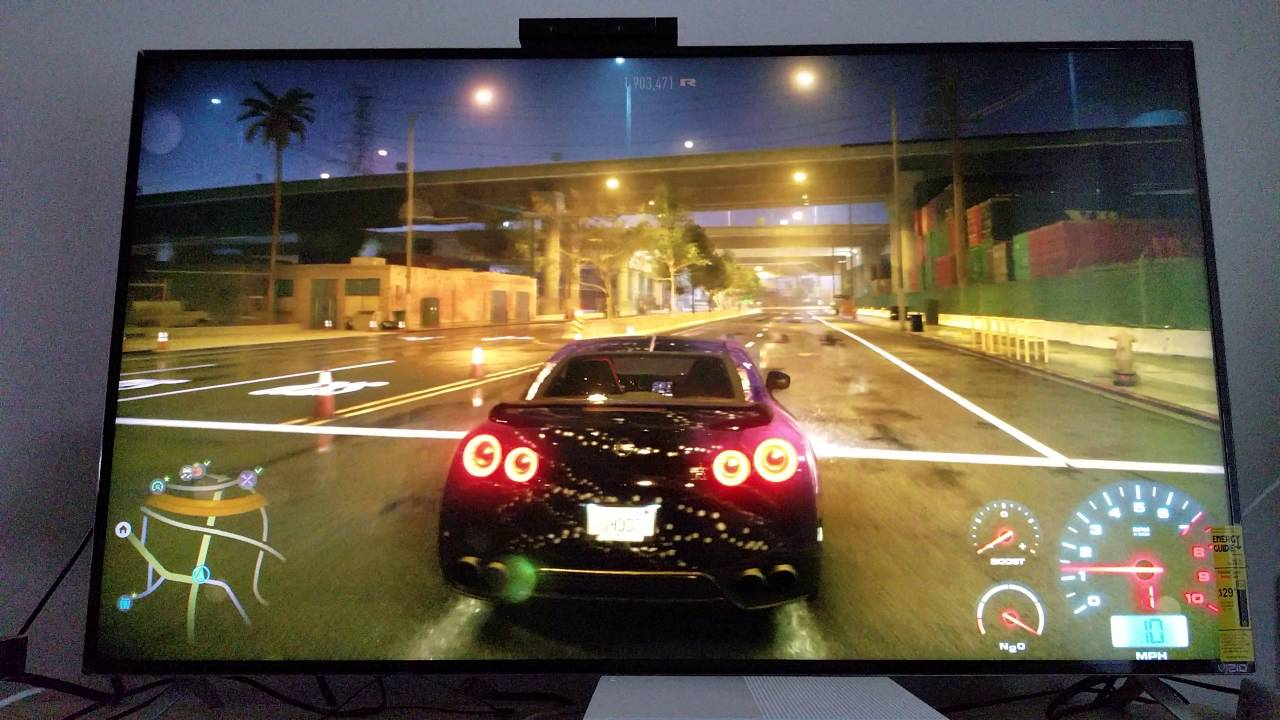 need for speed ps4 upscaled to 4k on xbox one s vizio 2015 m55 c2 youtube. Black Bedroom Furniture Sets. Home Design Ideas