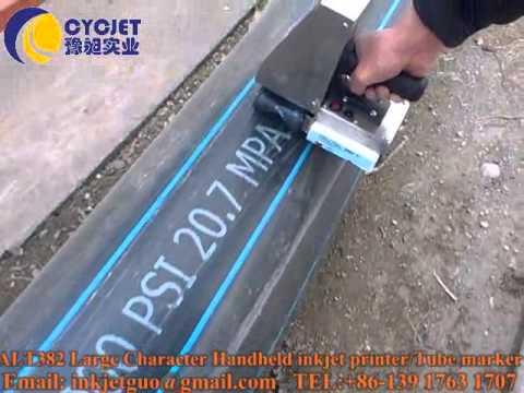 CYCJET Large character handheld inkjet printers/Large format tube hand marking machine/coders/marker