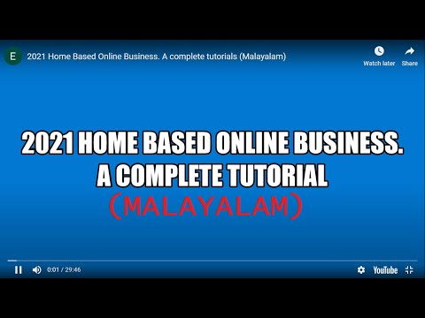 2021 Home Based Online Business. A complete tutorials (Malayalam)