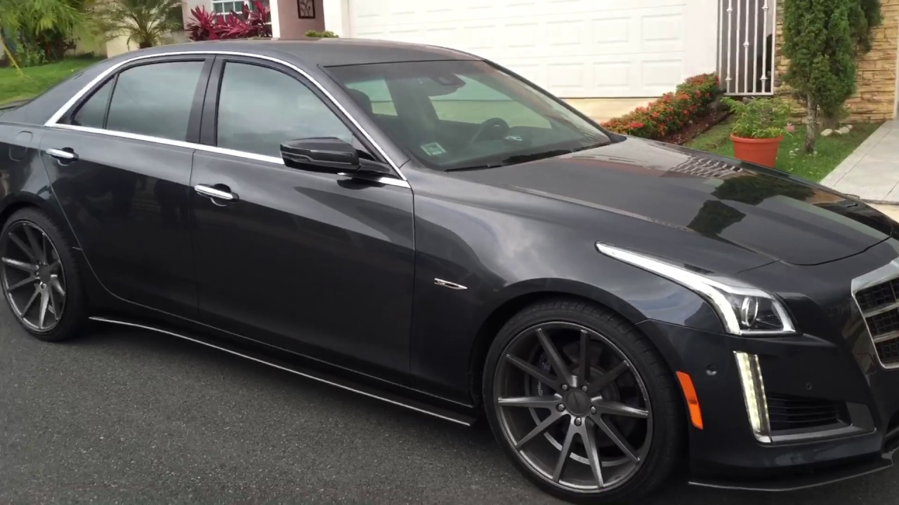 Cadillac CTS whole kit splitters in Carbon Fiber - YouTube