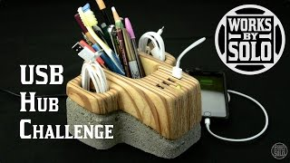 Concrete USB Hub Challenge - Inspired by Giaco Whatever | Mobile Phone Docking Station | CNC Router