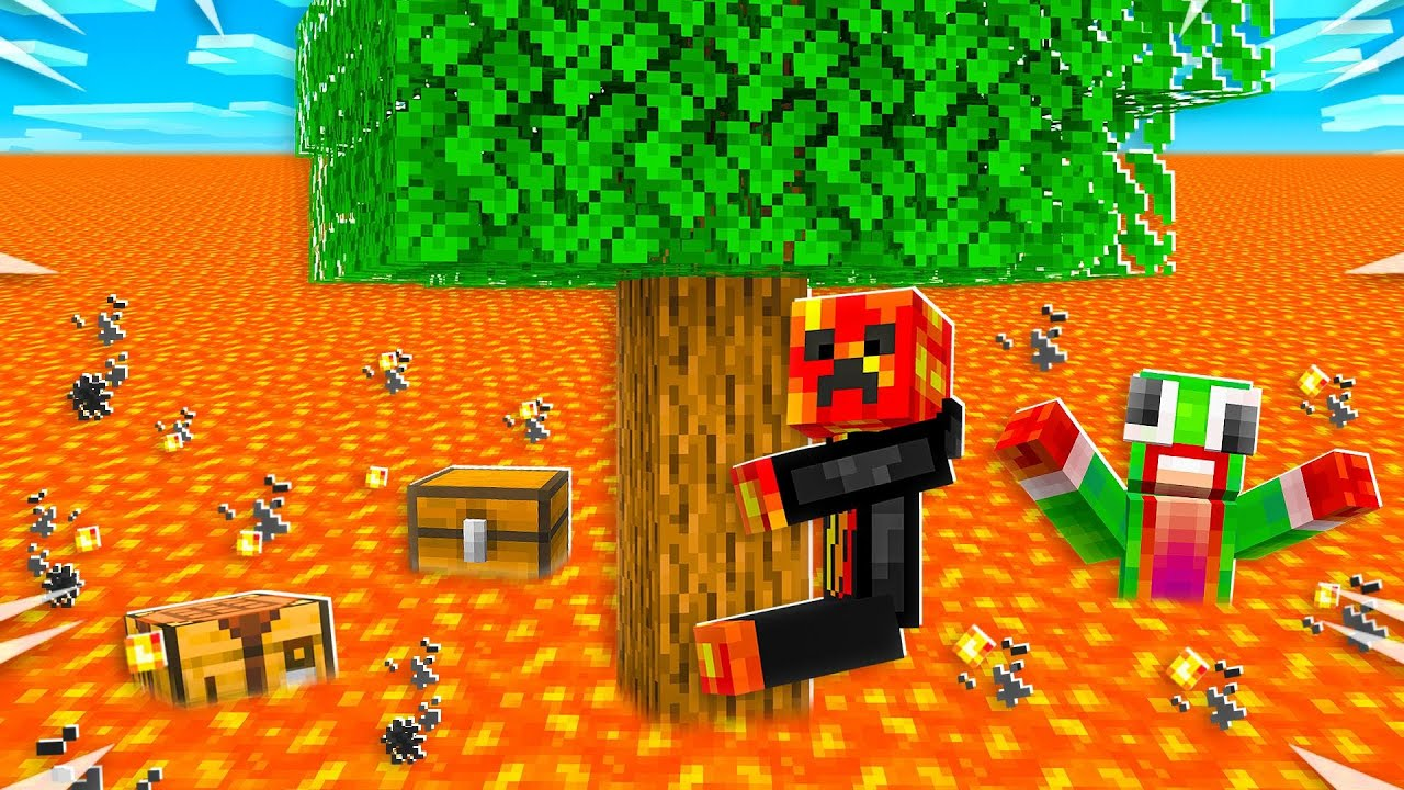 Minecraft BUT the Lava Rises Every 10s! thumbnail