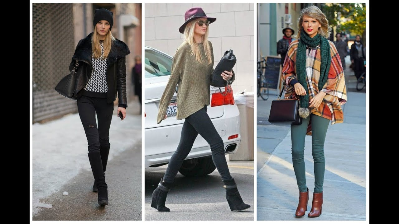 Celebrity Street Style Fashion With Skinny Jeans Youtube