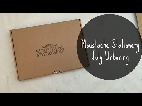 Moustache Stationery Unboxing July 2015