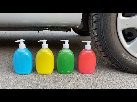 EXPERIMENT: Car Vs Soap - Crushing Crunchy & Soft Things By Car!
