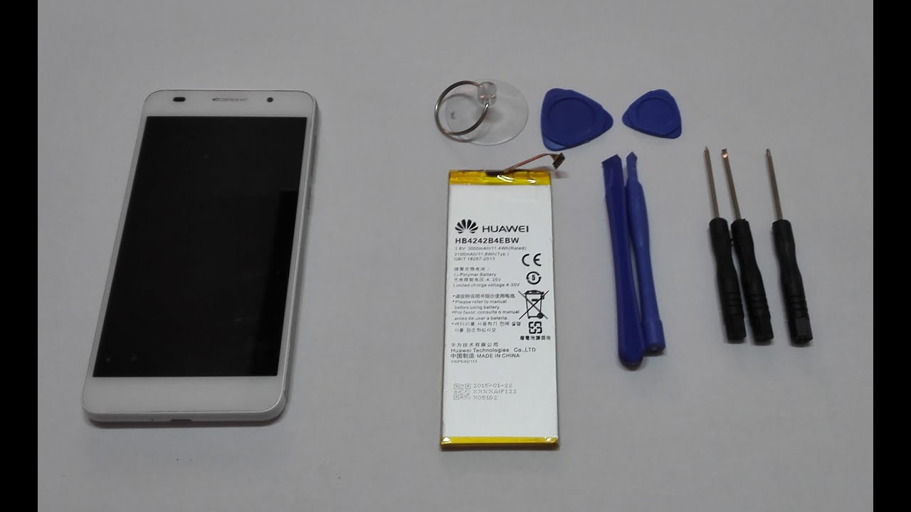 How To Remove A Car Battery >> Huawei Honor6 Disassembly & Battery Change - YouTube