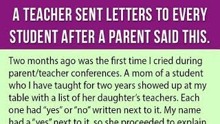 Teacher Sent Letters To All Her Students After A Parent Told Her This During A Conference