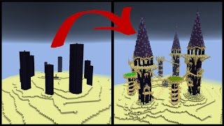 How to Make a Minecraft Obsidian Pillar End City!