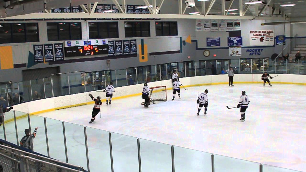 James Goodfellow 17 For Fond Du Lac Bears Scores A Goal Against The Mosinee Papermakers Bears 6 5 Youtube