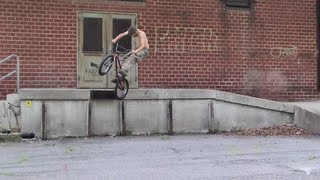 Homeless guy tries to ride BMX