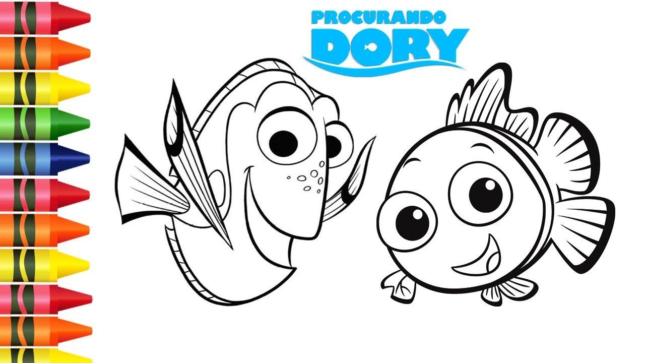Colorir Desenhos De Procurando Dory E Nemo Da Disney Desenhos