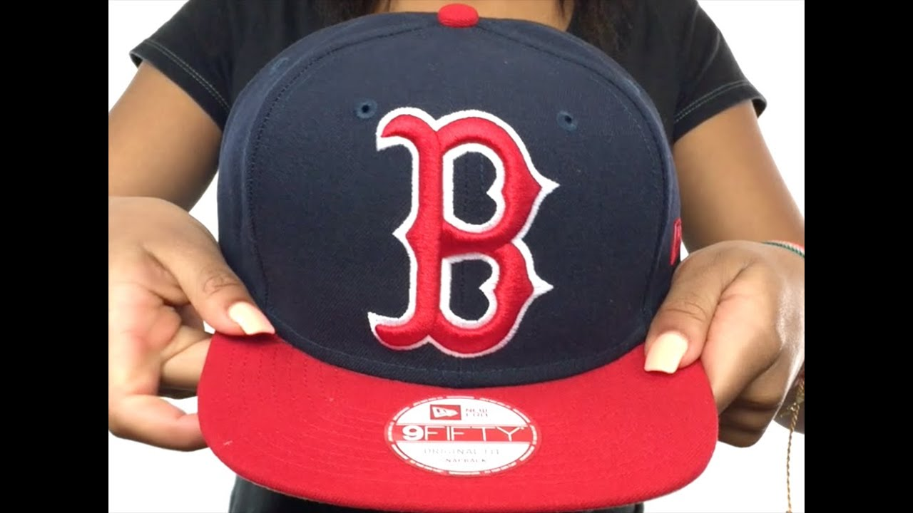 75d766d1780 Red Sox  LOGO GRAND REDUX SNAPBACK  Navy-Red Hat by New Era - YouTube