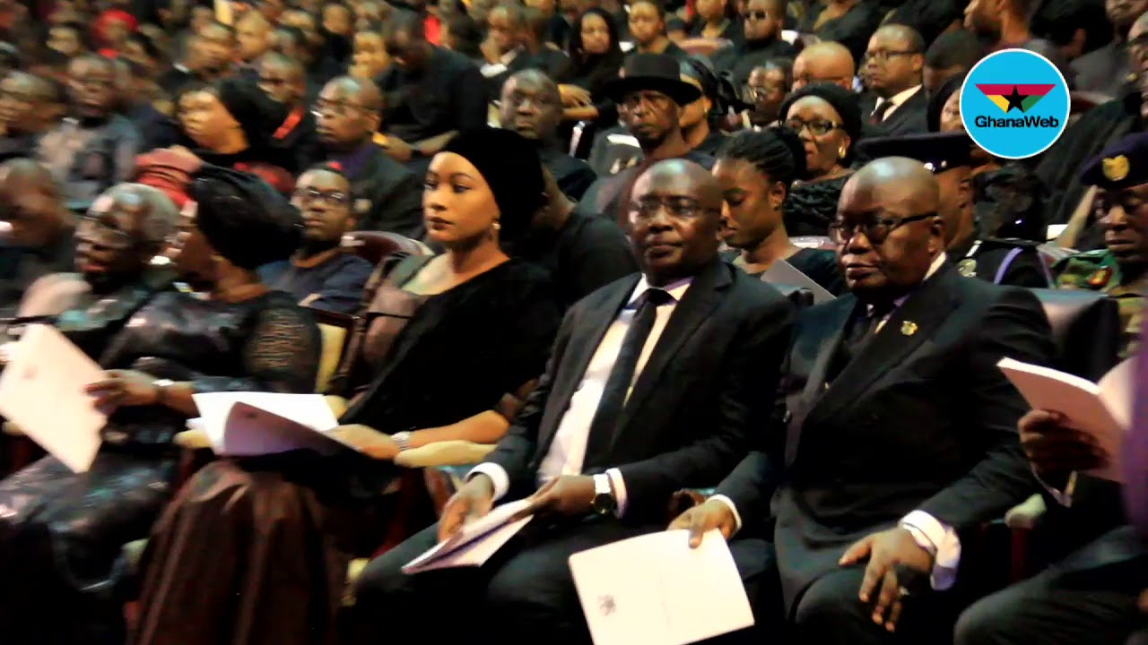 Akufo-Addo, Ex-Presidents attend burial service of late Amissah-Arthur