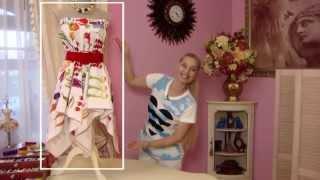 Юбка из скатерти (Skirt from tablecloth)