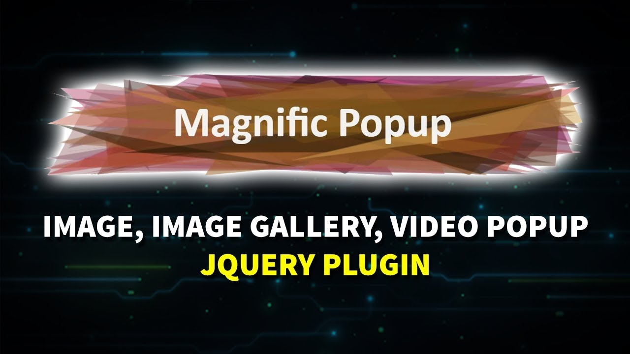How To Use Magnific Popup JQuery Plugin (image Popup, Image